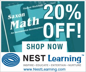 Saxon Curriculum is now 20% Of...
