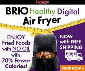 FREE SHIPPING! Get the Brio Healthy Digital Air Fryer Today - NuWave Oven