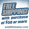 Free Ground Shipping Orders Over $50 at seattleteams.com