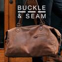 premium brown leather weekender bag for men