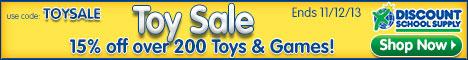 Discount School Supply Toy Sale