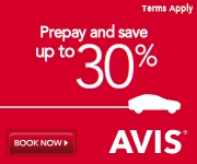 Pay now.  Save More.  Save up to 30% when you Pay Now at Avis.com