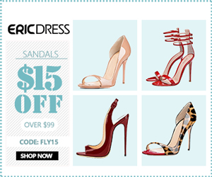 Ericdress Sandals $15 off over $99, Code: fly15. Shop Now!