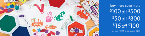 SCHOOL SUPPLY & CRAFT SALE! Save Up To $100 OFF Plus Free Shipping On Orders Over $99!