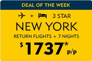 Expedia.com.au Deal of the Week! New York deals starting at $1737pp!