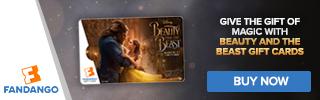 Fandango - Beauty and the Beast Gift Card Banner