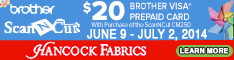 234x60 Brother ScanNCut $20 Rebate - Ends July 2nd