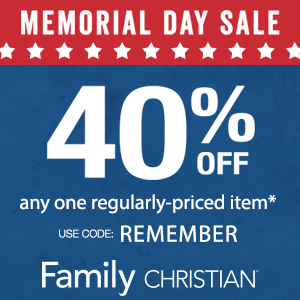 Take 40% off any one regularly-priced item May 22- 25