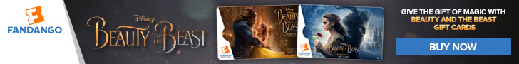 Fandango - Beauty and the Beast Gift Card Banner