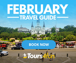 February Travel Guide - Up to 20% off on featured tours through 2/22/17!