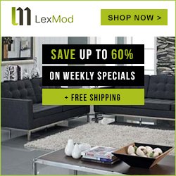 Image for Save up to 60% Off on Weekly Specials + Free Shipping on all orders at LexMod.com. Shop Now