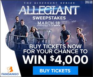Divergent: Allegiant $4,000 Sweepstakes