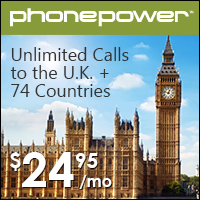 Unlimited International Calling to Great Britain Only $24.95 a Month