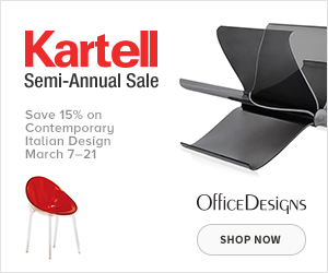 Save 15% off during the Kartell Semi-Annual Sale. (Valid 3/7/19 - 3/21/19)