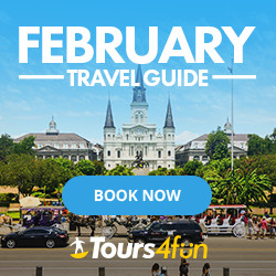 February Travel Guide - Up to 20% off on featured tours through 2/22/17