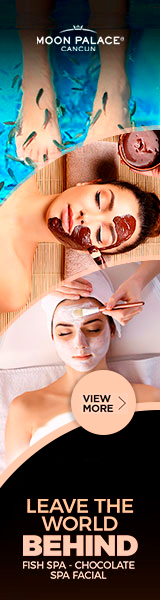 Enjoy at Moon Palace Cancun Fish Spa, Chocolate Spa, Facial and more.