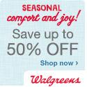 Save up to 50% at Walgreens