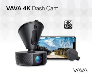 VAVA 4K UHD Dash Cam w/ Night Vision, GPS, 24hr Parking Mode & Ultra Wide Angle