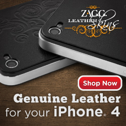 ZAGG: Genuine Leather for your iPhone 4