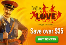 The Beatles Love by Cirque du Soleil - Save Over $35 באנר