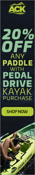 20% Off Paddles w/ Pedal Drive