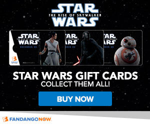 Get Fandango Gift Cards with all of your favorite Star Wars characters!