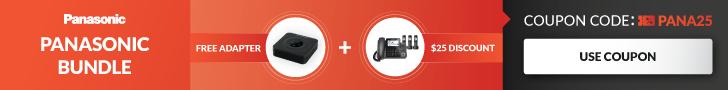 Free Adapter & $25 off Panasonic! Use Promo PANA25