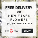 Free Delivery On New Years Flowers $59.95 And Above