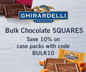 10% off Bulk Candy purchases with code BULK10 at Ghirardelli.com
