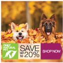 Save $20 + Free Shipping on orders $100 or more with code at OnlyNaturalPet