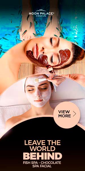 Enjoy at Moon Palace Cancun Fish Spa, Chocolate Spa, Facial and more.
