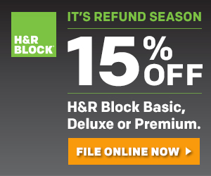 Save 15% on H&R Block At Home Deluxe Edition