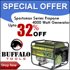 Lowest Price Guarantee on Buffalo Tools Sportsman Power Generator