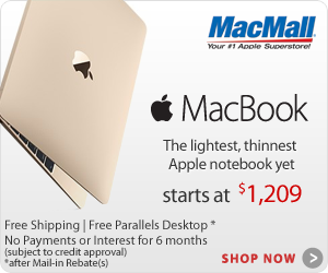 The new MacBook. The lightest, thinnest Apple Notebook yet now available at MacMall.com