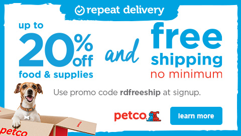 Repeat Delivery saves you money. Always up to 20% off and Free Shipping.