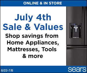 Sears Promo Code - July 4th Event! Online & In Store! Savings from Home Appilances, Mattresses and more
