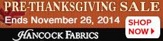 234x60 Pre-Thanksgiving Sale - Ends November 26th