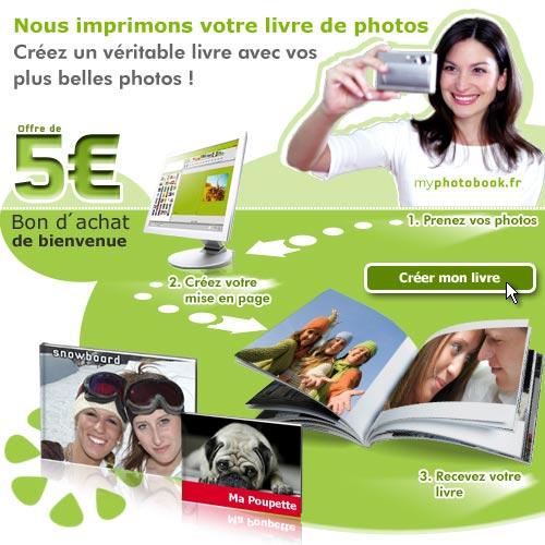 5€ de réduction pour votre album photo