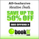 Save Up to 50% All Inclusive packages on Book It