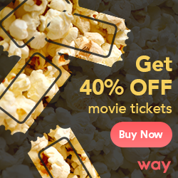 Way.com promo code up to 40% off movie tickets