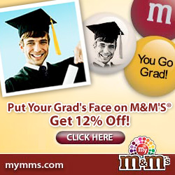 create your own personalized grad gift mnm's