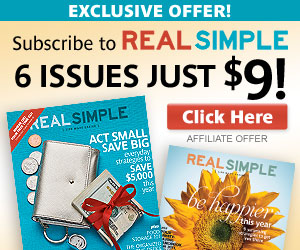 Real Simple Magazine Deal