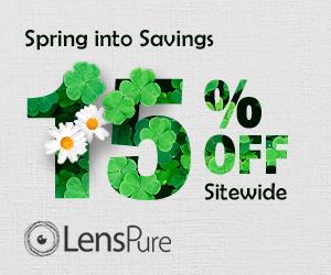 Lenspure.com St. Patrick's Day Sale