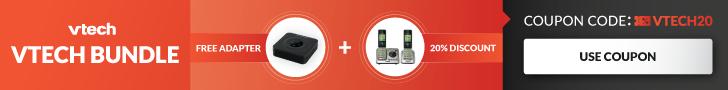 Free Adapter & 20% off VTECH Use Promo VTECH20