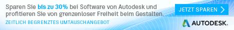 30% Autodesk-Rabatt: Tauschen Sie Ihre alten Software-Lizenzen für AutoCAD®, Revit®, Inventor® und 3ds Max®. Sparen Sie bis zu 30% bei Industry Collections!