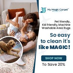 My Magic Carpet Pet Friendly/Kid Friendly 20% Off 1 250x250