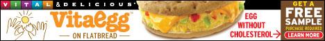 New! 120-Calorie VitaEgg Flatbread Sandwich-Get Free Sample!