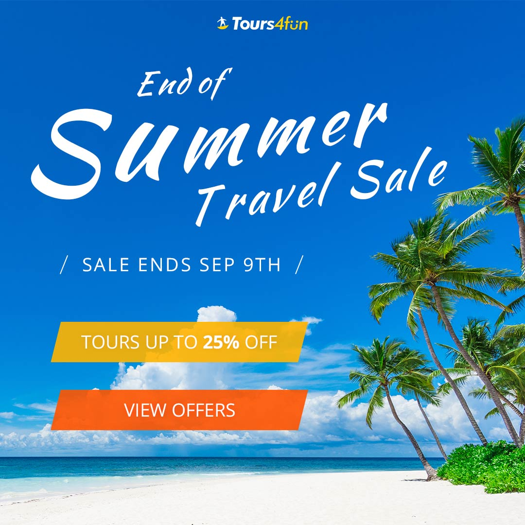 End of Summer Sale: Up to 20% off worldwide tours