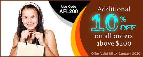 Additional 10% off on all orders above $200