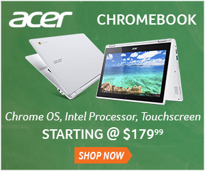 Acer Chromebook starting at just $179.  View models now.